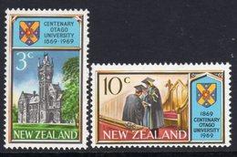 New Zealand 1969 Otago University Centenary Set Of 2, MNH, SG 897/8 - Unused Stamps