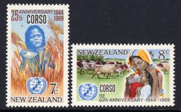 New Zealand 1969 CORSO Relief Services Set Of 2, MNH, SG 911/2 - Unused Stamps