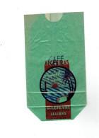 EMBALLAGE PAPIER POUR CAFE ALGESIRAS 250 GRAMMES. G. LEFEVRE EPICERIE FINE A ILLIERS EURE ET LOIR - Autres