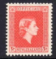 New Zealand QEII 1954-63 3d Vermilion Official, MNH, SG O162 - Unused Stamps