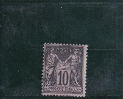 N° 89 Type SAGE, 25c Noir Sur Lilas - 1876-1898 Sage (Type II)