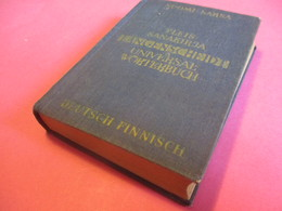 Petit Dictionnaire Deutsch-Finnish/Suomi-SAKSA/Yleis-Sanikirja/ LANGENSCHEIDT/ Universal-Worterbuch/Berlin/ 1952    DIC6 - Libros, Revistas, Cómics
