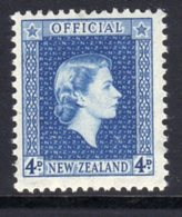 New Zealand QEII 1954-63 4d Blue Official, MNH, SG O164 - Unused Stamps