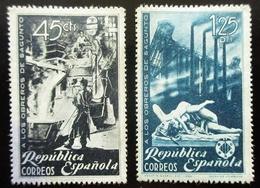 1938 ESPAGNE Edi 773, 774 . In Honor Of The Workers Of Sagunto - 1931-Aujourd'hui: II. République - ....Juan Carlos I