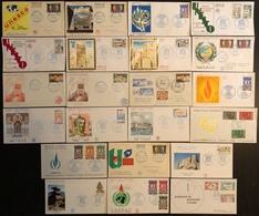 France FDC - Premier Jour - Lot De 22 FDC - Thématique UNESCO - FDC
