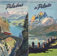 Dépliant Touristique Mont Pilate Années 50 / Suisse / Schweiz / Switzerland / Pilatus - Dépliants Touristiques