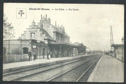 +++ CPA - RHODE ST GENESE - SINT GENESIUS RODE - La Gare - De Statie   // - St-Genesius-Rode