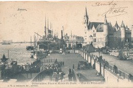 CPA - Belgique - Antwerpen - Anvers - Débarcadère - Place Du Steen - Antwerpen