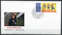 "Germany 2014 First Day Cover Mi.Nr.3099 Ersttagsbrief"" 50 Jahre Jugendfeuerwehr,Firefigther""1 FDC - Feuerwehr"