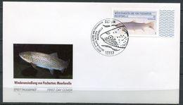 """Germany 2014 First Day Cover Mi.Nr.3120 Ersttagsbrief""""Wiederansiedlung Von Fischarten,Meerforelle""""1 FDC - Fische"""