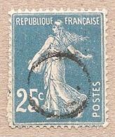 140 Obl Rond Nouvel An Ou Suisse...  Semeuse 25c - 1906-38 Semeuse Camée