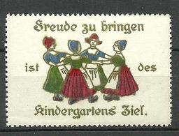 Deutschland Ca 1900 Kindergarten Reklamemarke Variety ERROR Set Off Abklatsch * - Vignetten (Erinnophilie)