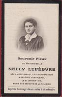 Nelly Lefebure Lodelinsart Charleroi 1917 Doodsprentje Bidprentje Image Mortuaire - Images Religieuses