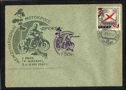 RUSSIA USSR Private Cancellation USSR Se SPEC NNN 1961LV LATVIA Sport International Motorcycle Race - 1923-1991 USSR
