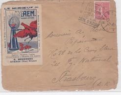 LSC - HYERES 1928 - Marcofilia (sobres)