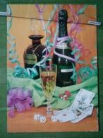 Kov 8-118 - NEW YEAR, BONNE ANNEE, Playing Cards, Cartes à Jouer, Champagne, Champignon, Mushroom - Año Nuevo