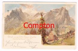467 E.T.Compton Otto Mayr-Hütte Künstlerkarte Litho - Andere