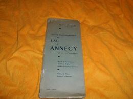 CARTE TOPOGRAPHIQUE DU LAC D'ANNECY ET DE SES ENVIRONS...ECHELLE 1/25000...DATE 1954 ?... - Cartes Topographiques