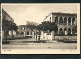 CPA - OUJDA - Le Lycée De Garçons, Animé - Marruecos
