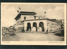 CPA - OUJDA - La Banque D'Etat Du Maroc, Animé - Automobiles - Marruecos