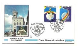 1998 - San Marino 1611/12 Giornata Del Malato - FDC - Salute