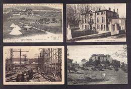 LOT 20 CPA 13 - Qques CPSM - VILLAGES Principalement Militaria , Gares , Vues Générales , Centre Village , Calanque TBE - France