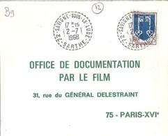 72 - SARTHE - 72.SAVIGNE SOUS LE LUDE - TàD DE TYPE B9 De 1968 - Marcophilie (Lettres)