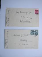 1938 , Landlager Wilster , 2 Briefe Mit Absender  + Inhalt - Briefe U. Dokumente