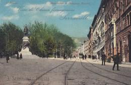 TRIESTE-MONUMENTO A DOMENICO ROSSETTI-PUBBLICITARIA =SERRAVALLO=-CARTOLINA NON VIAGGIATA ANNO 1920-1925? - Trieste