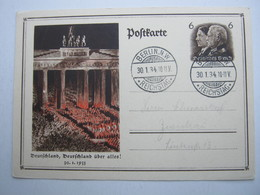 1934 , BERLIN REICHSTAG, Klarer Stempel Auf Karte - Briefe U. Dokumente