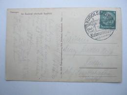 1937 , RUDOLSTADT - Nationalfestspiele , Klarer Stempel Auf Karte - Briefe U. Dokumente