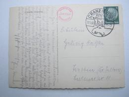 1937 , CRANZ - Ostseebad , Klarer Stempel Auf Karte - Briefe U. Dokumente