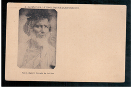 ETHIOPIE Missions Catholiques Abyssinie - Type Abyssin Somalis De La Cote Ca  1905 OLD  POSTCARD - Ethiopië