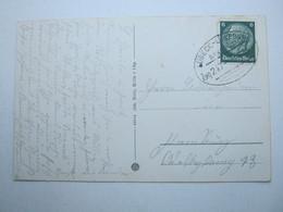 1935 , LÜBECK - LÜNEBURG , Bahnpost , Klarer Stempel Auf Karte - Briefe U. Dokumente