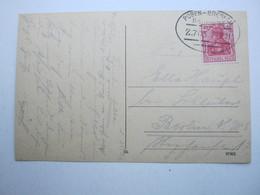 1921 , POSEN - BRESLAU , Bahnpost , Klarer Stempel Auf Karte - Briefe U. Dokumente