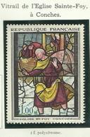 FRANCE - 1962 - VITRAIL DE L'ÉGLISE SAINTES-FOY, À CONCHES - YT N° 1377 - TIMBRE NEUF** - Frankreich