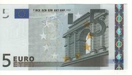 """5 EURO  """"U"""" Francia    Firma Trichet     L 027 A4  Ch. 72  /  FDS  - UNC - EURO"""
