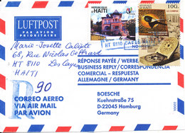 Haiti Registered Air Mail Cover Sent To Germany 1999 ?? - Haiti