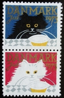 1973 DANEMARK Chats Neufs Traces Charnières - Danemark