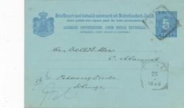 Nederlands Indië - 1898 - 5+5 Cent Cijfer, Briefkaart G11b Van VK Blitar Naar VK Wlingi - Nederlands-Indië