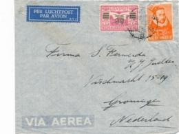 Nederlands Indië - 1934 - KB SINGKEP Op Cover Naar NL - Matig / Poor Quality - Indes Néerlandaises