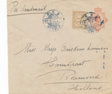 Nederlands Indië - 1923 - 12,5 Cent Wilhelmina , Envelop + 7,5 Cent Van LB GOERAH Naar Roermond / Nederland - Nederlands-Indië