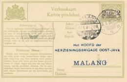 Nederlands Indië - 1931 - 2 Cent Opdruk Op Verhuiskaart Van LB GONDANGLEGI Naar Malang - Nederlands-Indië