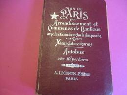 Plan De Paris / Arrondissement Et Communes De Banlieue/Nomenclature Des Rues/Autobus/ A LECONTE/Paris/1961  PGC256 - Cartes