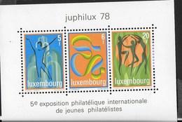 LUXEMBOURG - JUPHILUX 78 - ESPOSIZIONE FILATELICA PER LA GIOVENTU' - FOGLIETTO NUOVO** (YVERT BF12 - MICHEL BL 12) - Esposizioni Filateliche