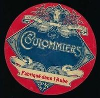 """Ancienne Etiquette Fromage Coulommiers  Fabriqué  Dans L'Aube 10 """"tête De Vache"""" - Quesos"""