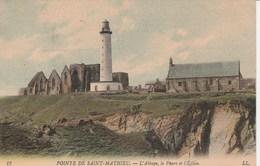 POINTE DE SAINT MATHIEU L'Abbaye ,le Phare Et L'eglise 51L - Autres Communes