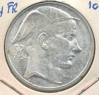 BELGIE BOUDEWIJN 50 F   FR  1954   2 SCANS - 1951-1993: Baudouin I