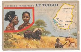 Colonies Françaises - LE TCHAD - Illustrée Avec Carte Contour Géographique Du Pays - Ed. LION NOIR - Tchad