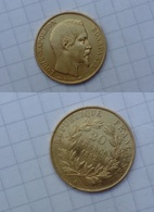 Véritable Pièce De 20 Francs En OR Napoléon 3 De 1852 En Excellent état - Coins